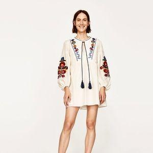 Brand new Zara embroidered dress